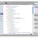 Web Inspector Safari 3.1