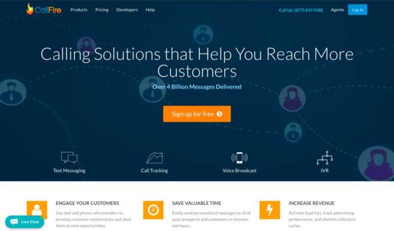 CallFire's Homepage