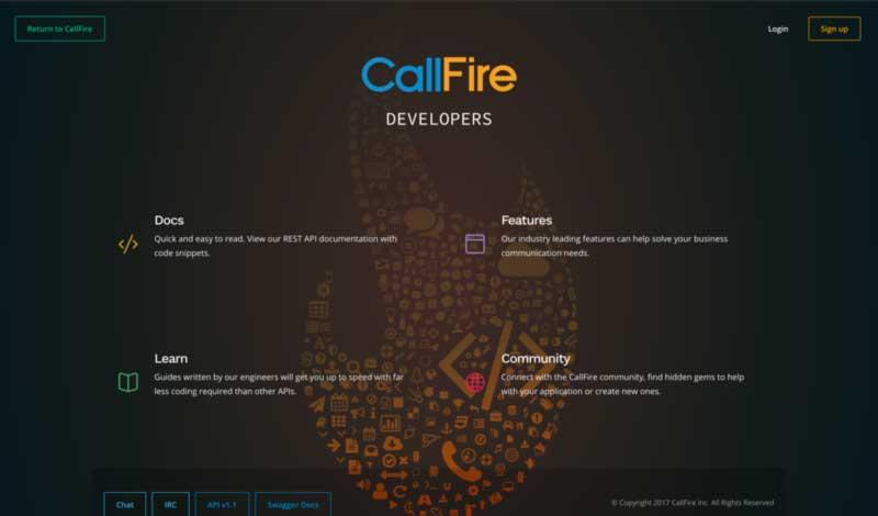 CallFire API Site Home